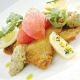 American Lamb Cutlets Milanese Style with Eggplant Caviar