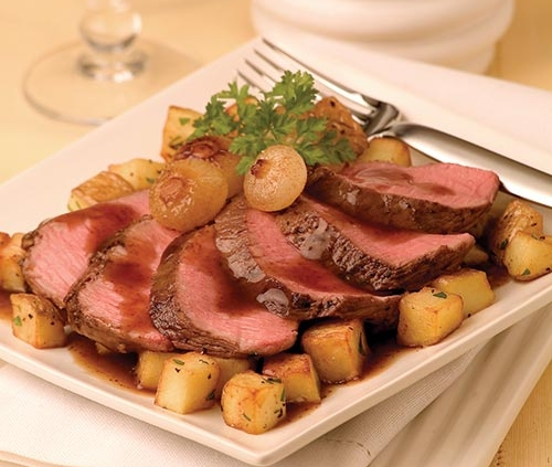 american lamb loin marinated in guinness and clover honey