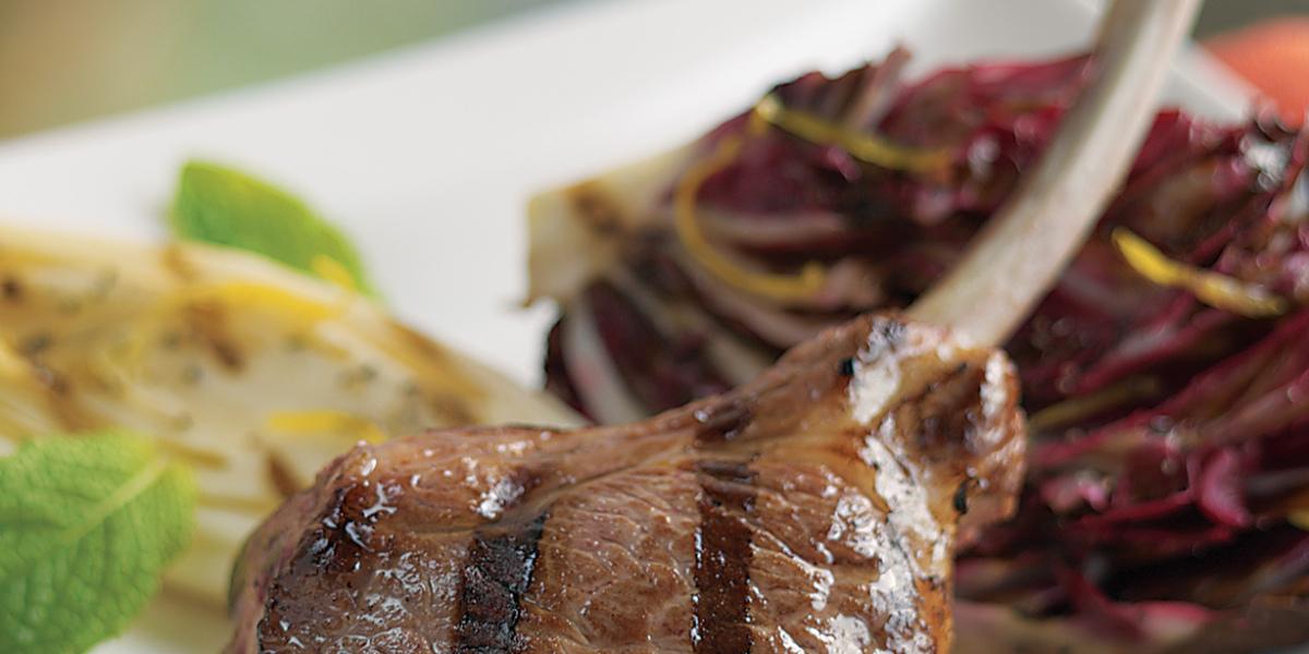 American lamb rib chops scottadita