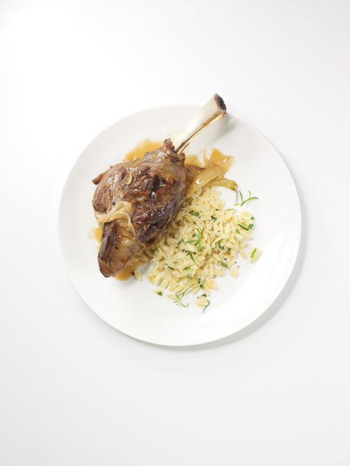 American lamb shanks with white wine fennel and tarragon