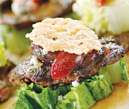 American lamb caesar salad