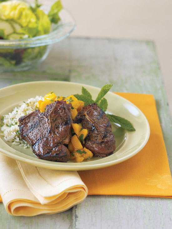 american lamb chops with mango sauce