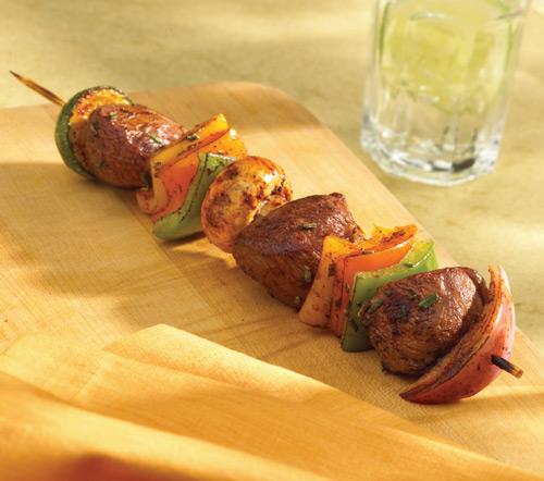 Balsamic and Rosemary Scented American Lamb Kebabs