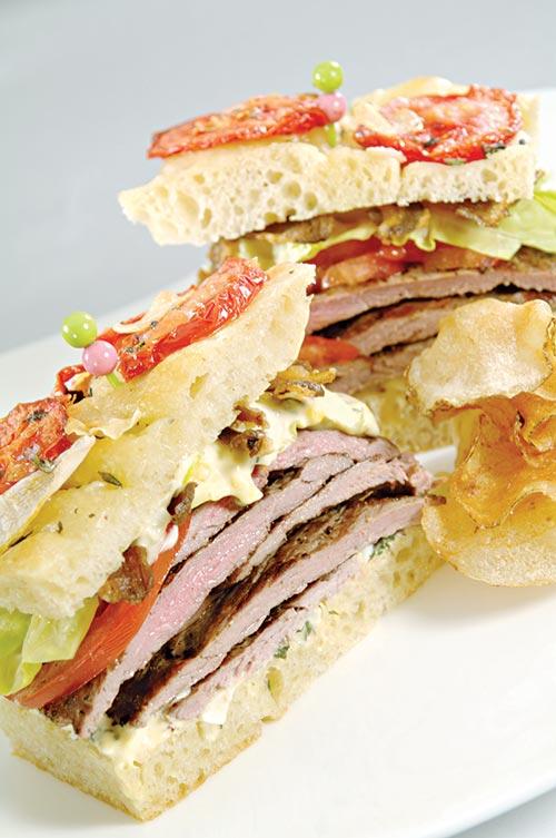 bistro style american lamb sandwich