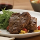 garlic and fennel rubbed loin chops with grilled lemon and tomato compote