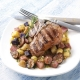 Grilled American Lamb Chops with Marinated Potatoes