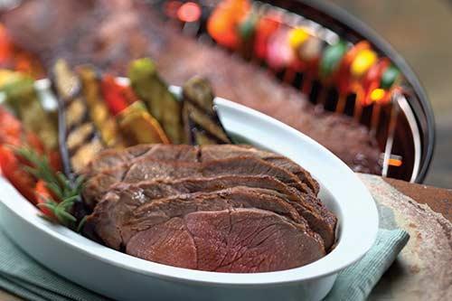 grilled savory boneless leg of lamb