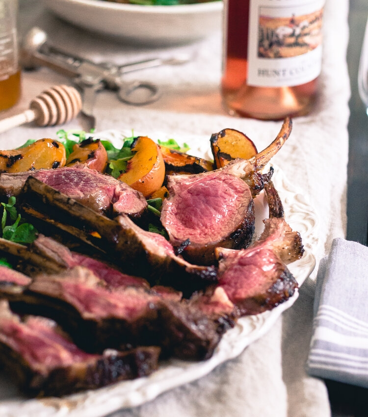 Peach Honey Grilled American Lamb Chops