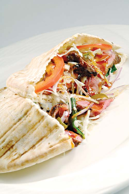 turkish lamb pita sandwiches