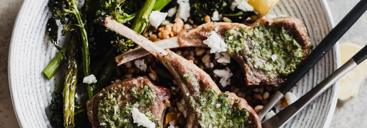 pan fried lamb chops
